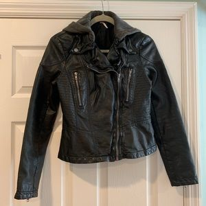 Free People Leather style jacket (Vegan leather)